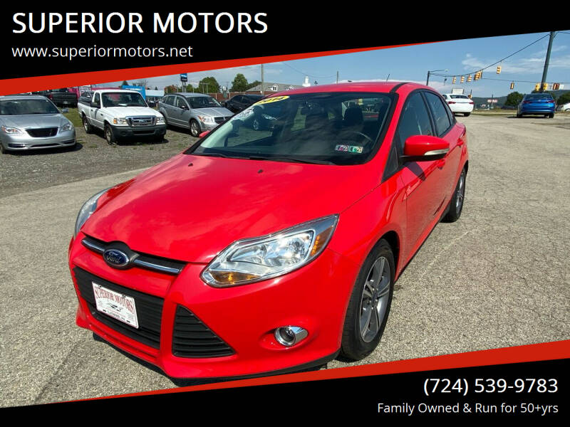 2014 Ford Focus for sale at SUPERIOR MOTORS in Latrobe PA