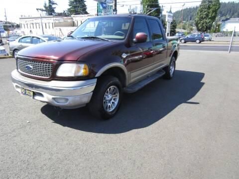 2001 Ford F-150 for sale at ARISTA CAR COMPANY LLC in Portland OR