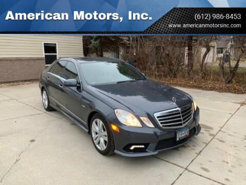 2011 Mercedes-Benz E-Class for sale at American Motors, Inc. in Farmington MN