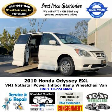 2010 Honda Odyssey for sale at Wheelchair Vans Inc - New and Used in Laguna Hills CA