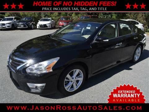 2015 Nissan Altima for sale at Jason Ross Auto Sales in Burlington NC