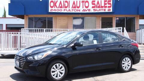 2019 Hyundai Accent for sale at Okaidi Auto Sales in Sacramento CA