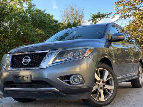 2016 Nissan Pathfinder for sale at HIGH PERFORMANCE MOTORS in Hollywood FL