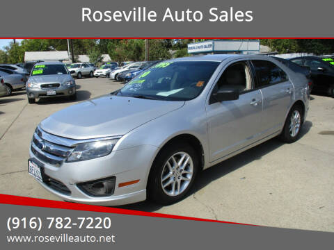 2010 Ford Fusion for sale at Roseville Auto Sales in Roseville CA