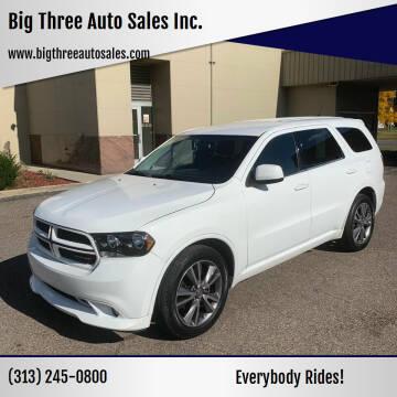 2013 Dodge Durango for sale at Big Three Auto Sales Inc. in Detroit MI