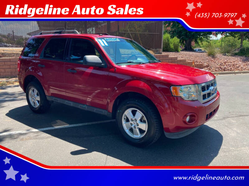 2011 Ford Escape for sale at Ridgeline Auto Sales in Saint George UT