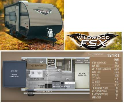 2019 Forest River Wildwood FSX 181RT for sale at S & M WHEELESTATE SALES INC - Camper in Princeton NC