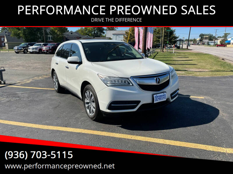 2014 Acura MDX for sale at PERFORMANCE PREOWNED SALES in Conroe TX