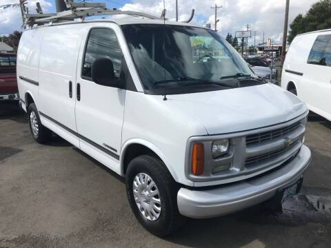 2000 Chevrolet Express Cargo for sale at Chuck Wise Motors in Portland OR