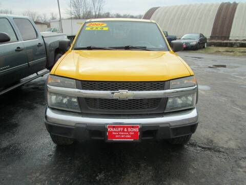 2007 Chevrolet Colorado for sale at Knauff & Sons Motor Sales in New Vienna OH