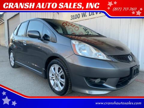 2011 Honda Fit for sale at CRANSH AUTO SALES, INC in Arlington TX