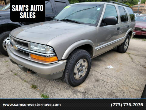 2003 Chevrolet Blazer for sale at SAM'S AUTO SALES in Chicago IL