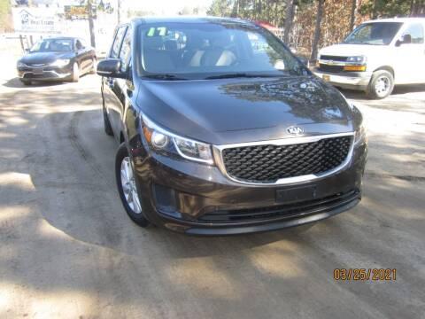 2017 Kia Sedona for sale at SUNNYBROOK USED CARS in Menahga MN