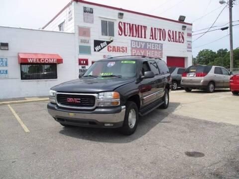 2004 GMC Yukon XL for sale at Summit Auto Sales Inc in Pontiac MI