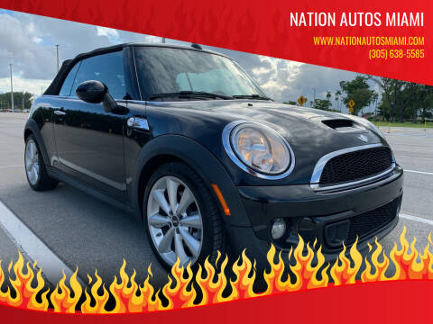 2013 MINI Convertible for sale at Nation Autos Miami in Hialeah FL