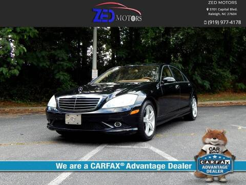 2009 Mercedes-Benz S-Class for sale at Zed Motors in Raleigh NC