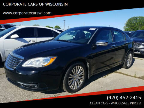 2012 Chrysler 200 for sale at CORPORATE CARS OF WISCONSIN in Sheboygan WI