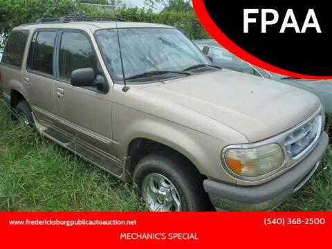 1996 Ford Explorer for sale at FPAA in Fredericksburg VA