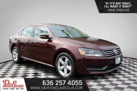 2013 Volkswagen Passat for sale at Dave Sinclair Chrysler Dodge Jeep Ram in Pacific MO
