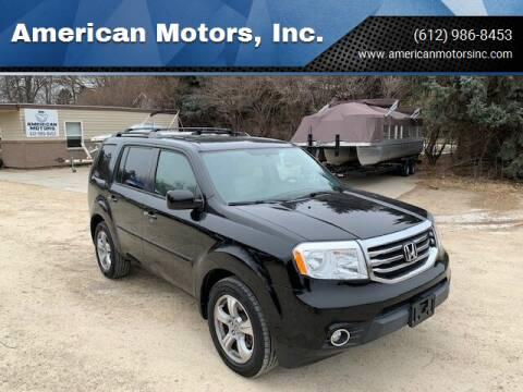 2013 Honda Pilot for sale at American Motors, Inc. in Farmington MN