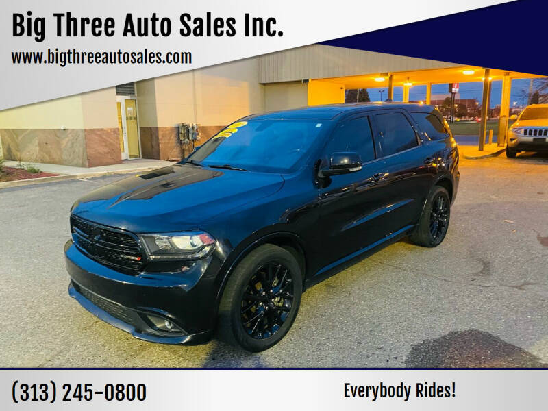 2015 Dodge Durango for sale at Big Three Auto Sales Inc. in Detroit MI