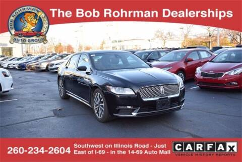 2019 Lincoln Continental for sale at BOB ROHRMAN FORT WAYNE TOYOTA in Fort Wayne IN