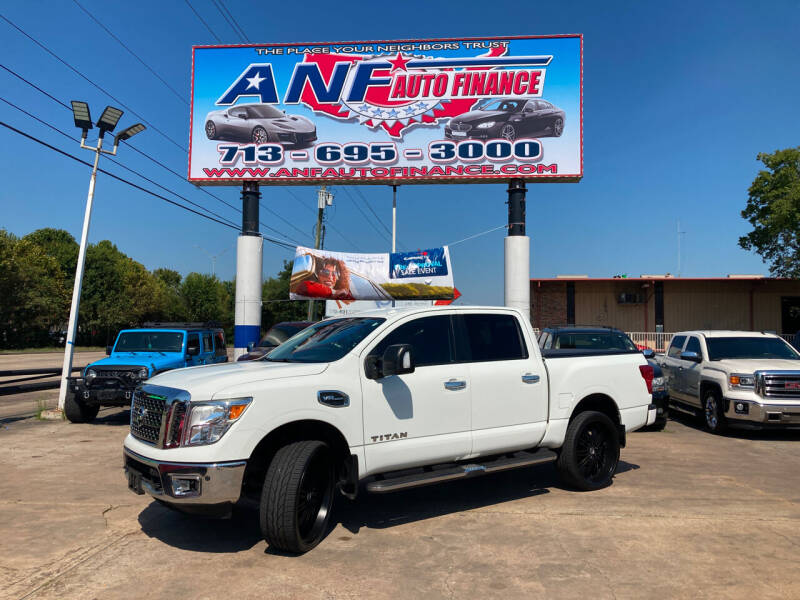 2017 Nissan Titan for sale at ANF AUTO FINANCE in Houston TX