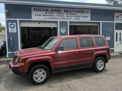 2016 Jeep Patriot for sale at Richland Motors in Cleveland OH