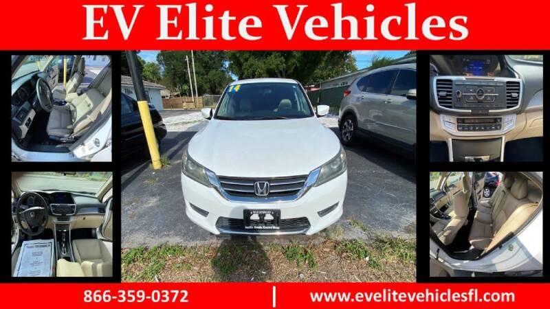 2014 Honda Accord for sale at EV ELITE VEHICLES in Saint Petersburg FL