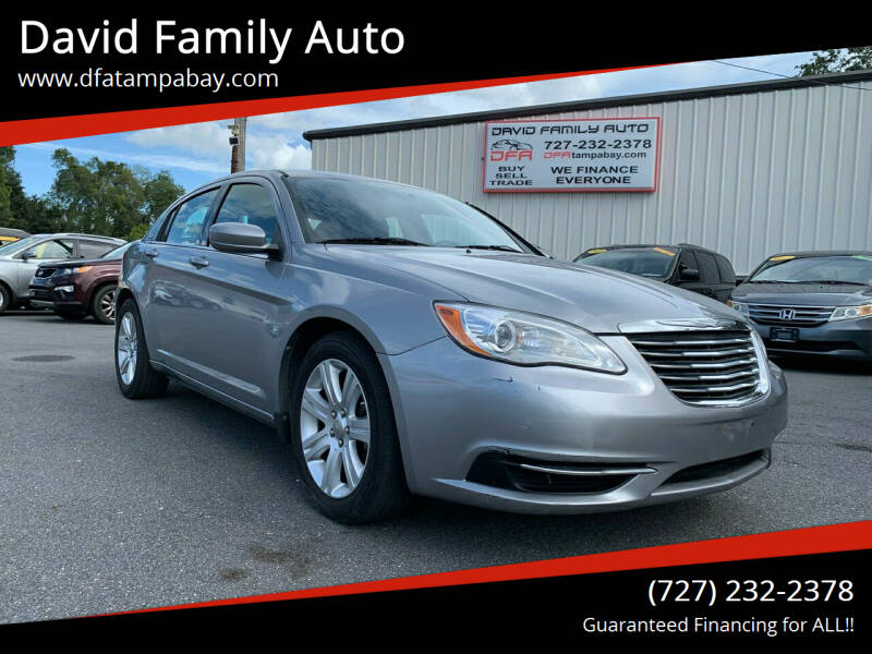 2013 Chrysler 200 for sale at David Family Auto in New Port Richey FL