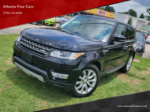 2014 Land Rover Range Rover Sport for sale at Atlanta Fine Cars in Jonesboro GA