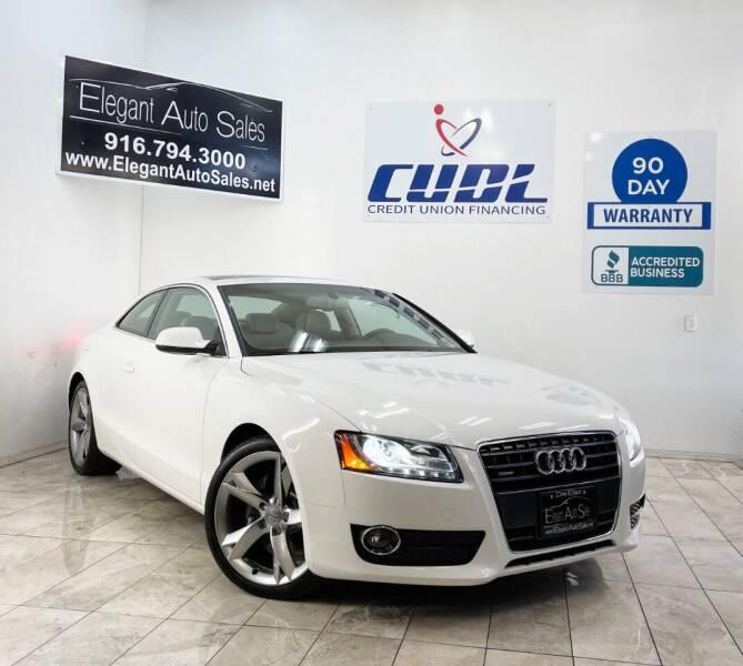 2012 Audi A5 for sale at Elegant Auto Sales in Rancho Cordova CA