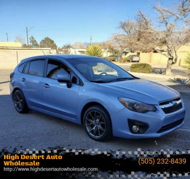 2012 Subaru Impreza for sale at High Desert Auto Wholesale in Albuquerque NM
