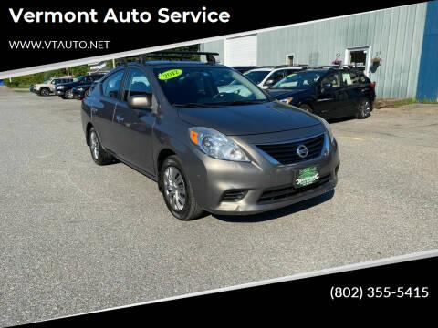 2012 Nissan Versa for sale at Vermont Auto Service in South Burlington VT