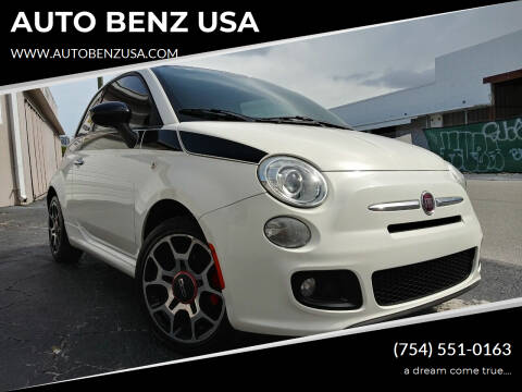 2012 FIAT 500 for sale at AUTO BENZ USA in Fort Lauderdale FL