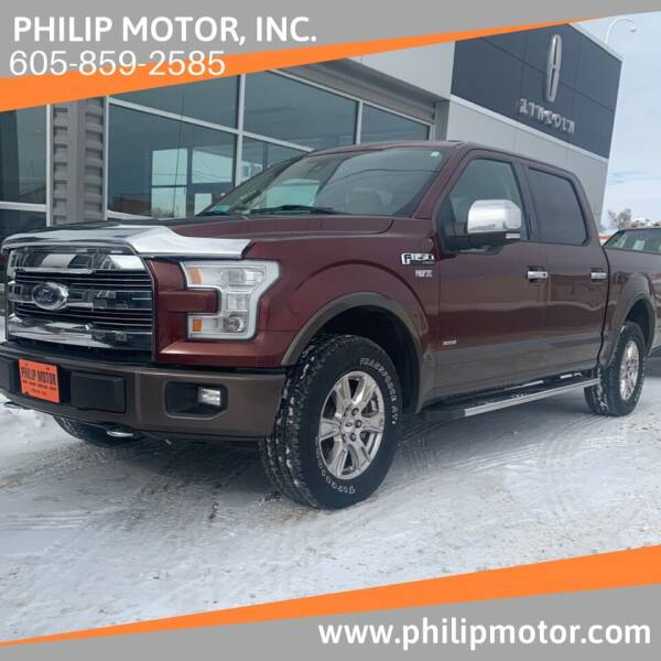 2016 Ford F-150 for sale at Philip Motor Inc in Philip SD