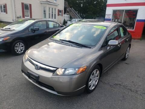 2008 Honda Civic for sale at TC Auto Repair and Sales Inc in Abington MA