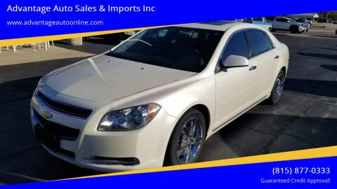 2012 Chevrolet Malibu for sale at Advantage Auto Sales & Imports Inc in Loves Park IL