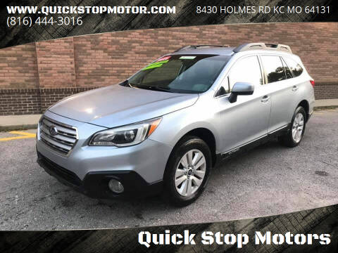 2016 Subaru Outback for sale at Quick Stop Motors in Kansas City MO