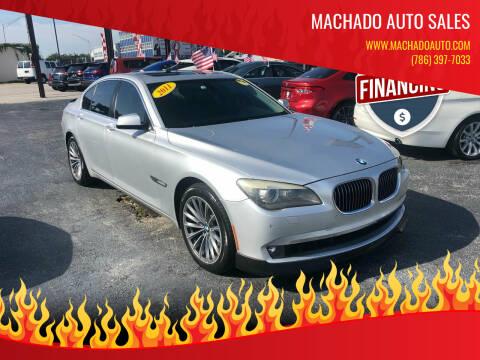 2011 BMW 7 Series for sale at MACHADO AUTO SALES in Miami FL