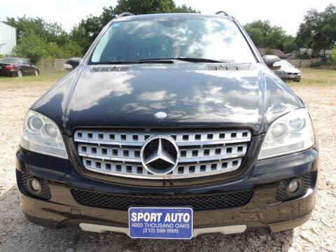 2008 Mercedes-Benz M-Class for sale at Sport Auto Inc in San Antonio TX
