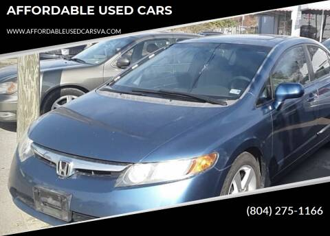 2007 Honda Civic for sale at AFFORDABLE USED CARS in Richmond VA