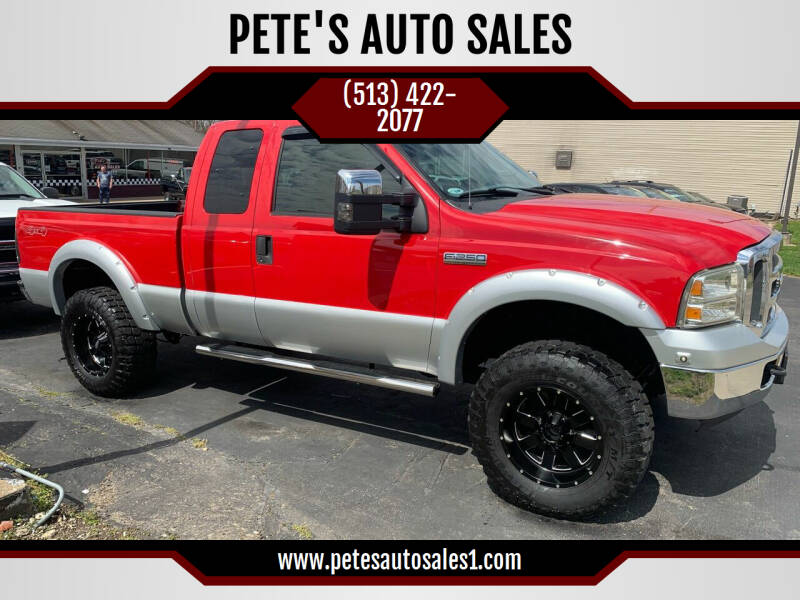 2005 Ford F-250 Super Duty for sale at PETE'S AUTO SALES LLC - Middletown in Middletown OH