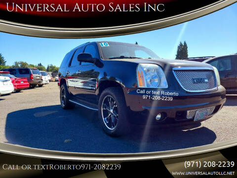 2010 GMC Yukon for sale at Universal Auto Sales Inc in Salem OR