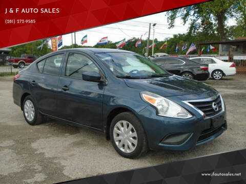 2016 Nissan Versa for sale at J & F AUTO SALES in Houston TX
