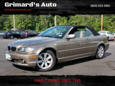 2005 BMW 3 Series for sale at Grimard's Auto in Hooksett NH