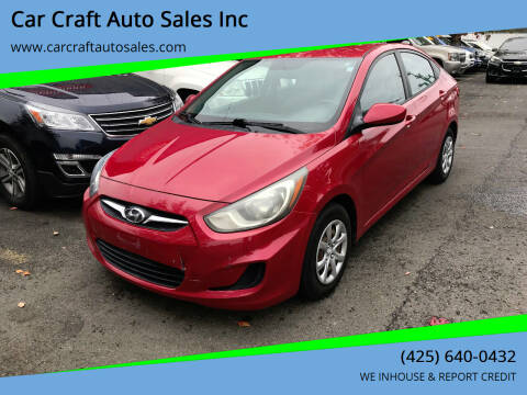 2012 Hyundai Accent for sale at Car Craft Auto Sales Inc in Lynnwood WA