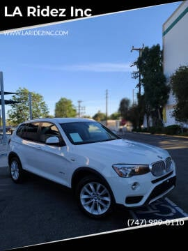 2017 BMW X3 for sale at LA Ridez Inc in North Hollywood CA