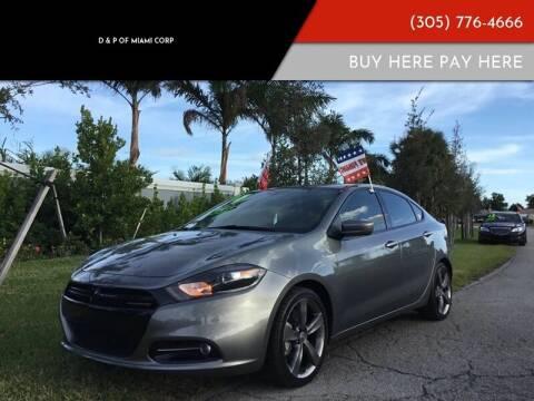 2013 Dodge Dart for sale at D & P OF MIAMI CORP in Miami FL