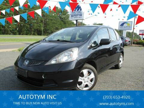 2011 Honda Fit for sale at AUTOTYM INC in Fredericksburg VA